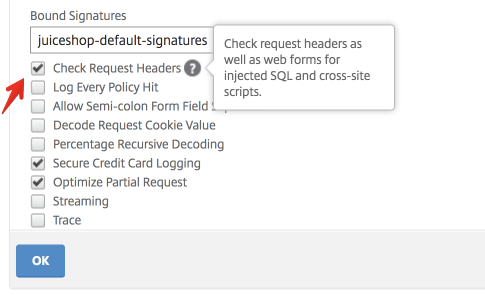 AppFW Profile Setting